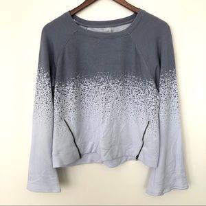 Calia Bell Sleeve Zipper Side Pullover Sweater